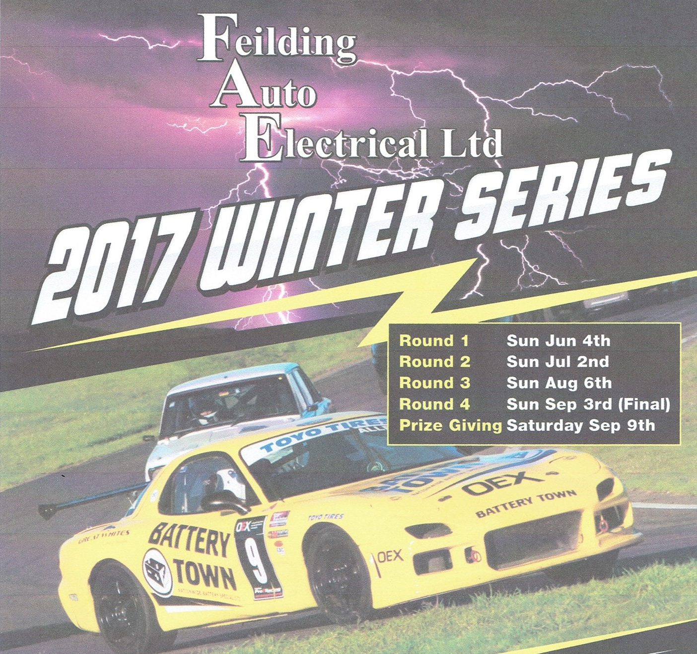 Feilding Auto Electrical Winter Race Series Round 2,3&4 Package