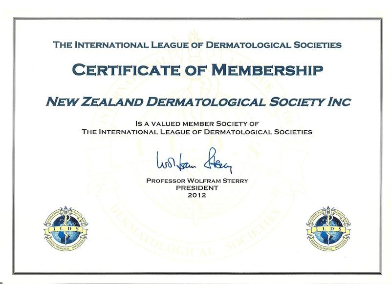Certificate of membership of ILDS